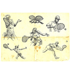 tennis collection vector image vector image