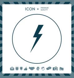 Thunderstorm lightning icon vector