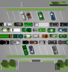 Traffic jam image vector