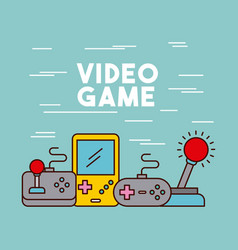 video games classic console vector image