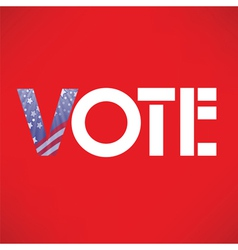 vote in USA vector image