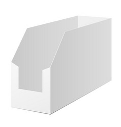 White cardboard pos poi holding box vector
