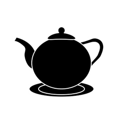 Tea pot drink design vector