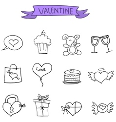 Valentines day icons collection stock vector