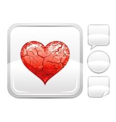 Happy valentines day romance love heart grunge vector