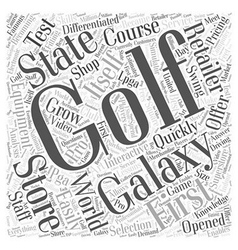 Golf Galaxy Word Cloud Concept vector image