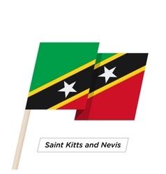 Saint kitts and nevis ribbon waving flag isolated vector