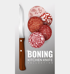 Realistic boning knife concept vector
