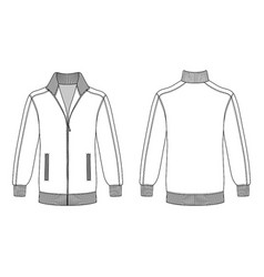 jacket with zipper vector image