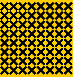 Tile yellow and black x cross pattern vector