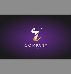 r alphabet letter gold golden logo icon design vector image