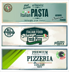 Vintage pizza background vector