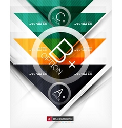Business geometric infographic poster vector