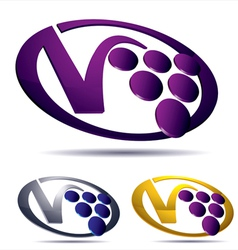 Vine grape icon vector