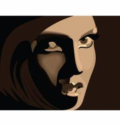 brown girl vector image