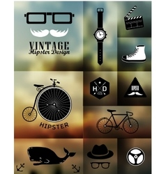 Hipster style info vector