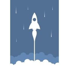 Rocket start up design vector image