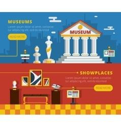 Museum banner set vector
