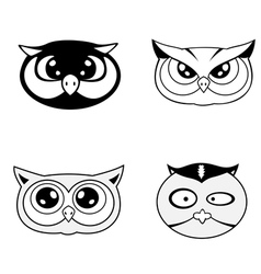 Head of owl vector