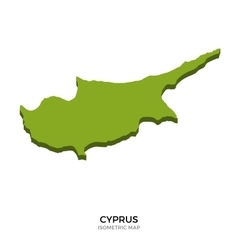 Isometric map of cyprus detailed vector