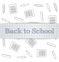 Back to school realistic paper label vector
