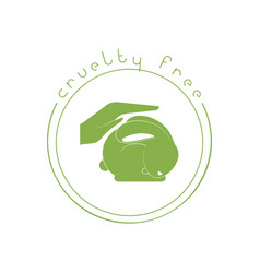 Animal cruelty free logo not tested on animals vector