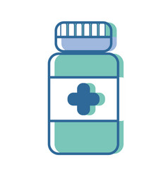 Bottle pills treatment and healthy medication vector