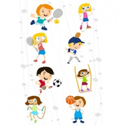 Cartoon sport kids vector