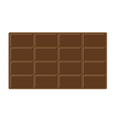 Chocolate bar icon tasty sweet food milk dark vector