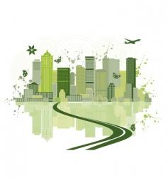 cityscape background urban art vector image