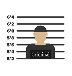 Criminal man elements of the police equipment vector
