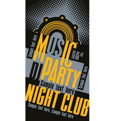 DJ music party vector image