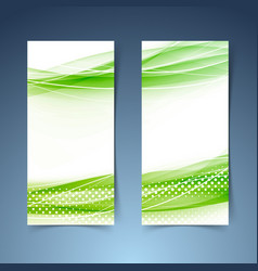 Ecological modern abstract swoosh banner vector
