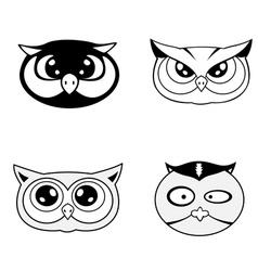 head of owl vector image