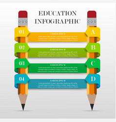 Infographic education banner vector image vector image
