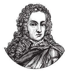 King william iii of england vintage vector