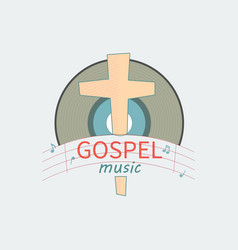 music the gospel for the salvation vector image vector image