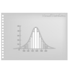 Paper art of normal distribution chart or gaussian vector