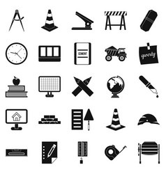 Range icons set simple style vector
