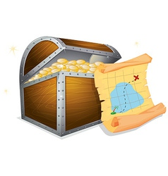 Treasure box vector