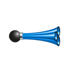 Triple air horn in blue design vector