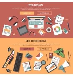 Web Horizontal Banners vector image vector image