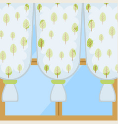 window curtains and room blinds jalousie for house vector image
