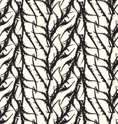 Kelp seaweed black abstract rough white vector