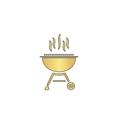 Barbecue computer symbol vector