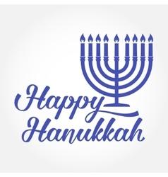 Happy hanukkah greeting card typography design vector