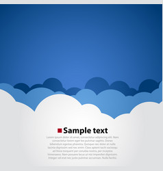 cloudy sky modern background vector image