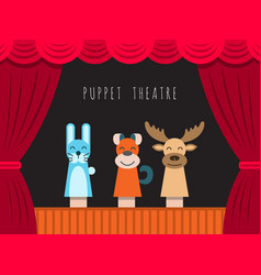 Children puppet theatre vector