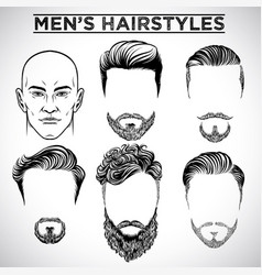 Men hairstyles vector