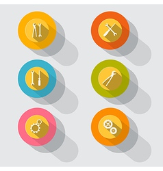 Circle tools icons vector